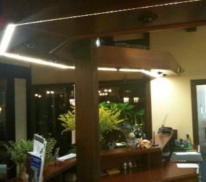 Aufgabe hier war eine blendfreie homogene Beleuchtung zu schaffen